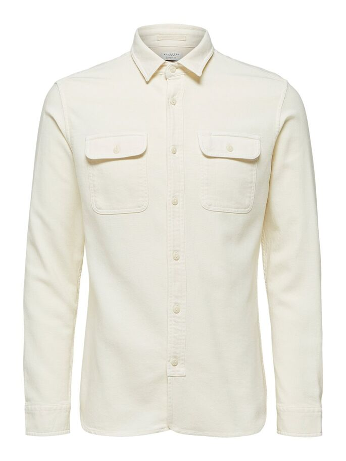 SLHREGJACKSON SHIRT LS W BONE | WHITE | SELECTED