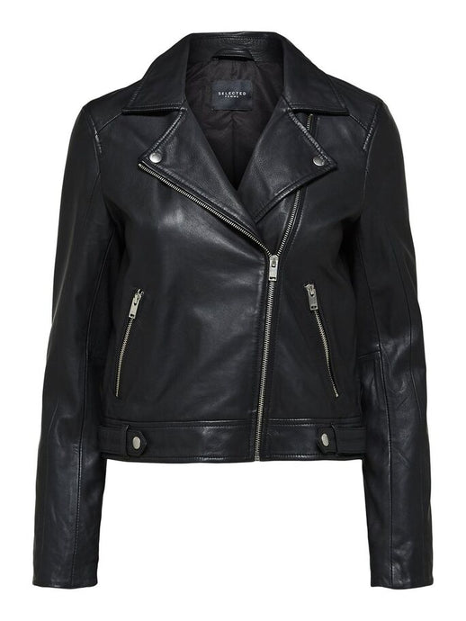 SLFKATIE LEATHER JACKET | BLACK | SELECTED