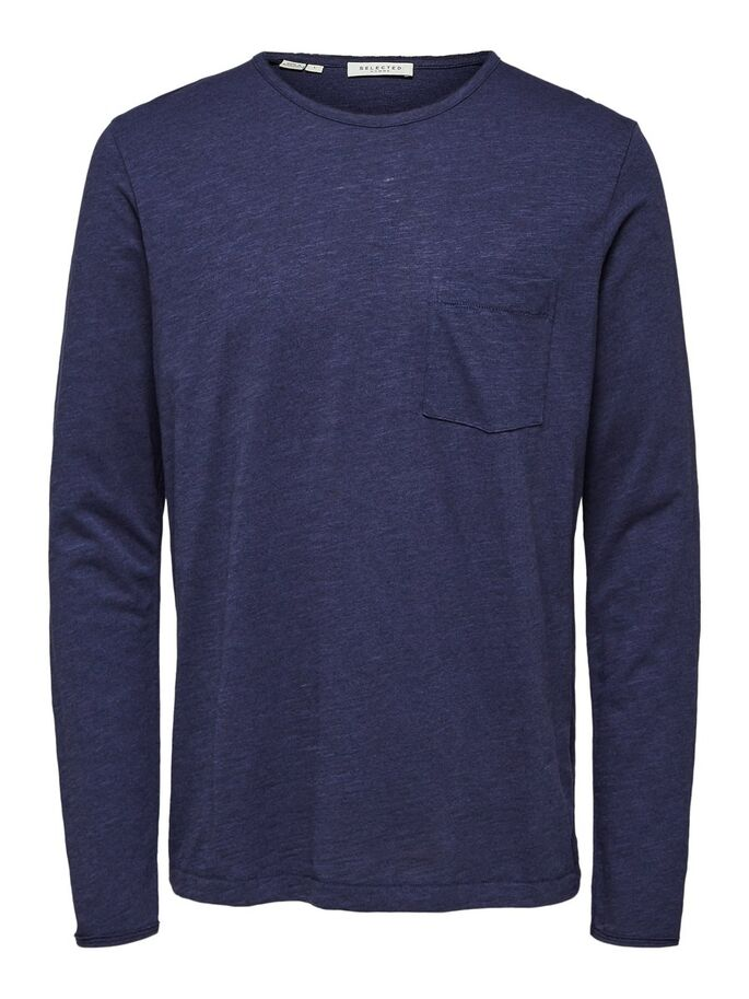 SLHARNOLD LS O-NECK TEE W | MARITIME BLUE | SELECTED