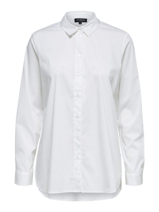 SLFORI LS SIDE ZIP SHIRT | BRIGHT WHITE