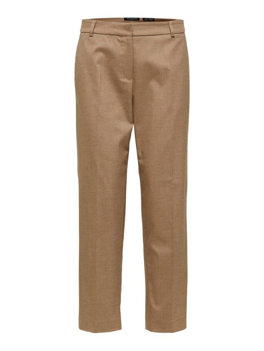 SLFRIA MW CROPPED PANT | CAMEL | SELECTED