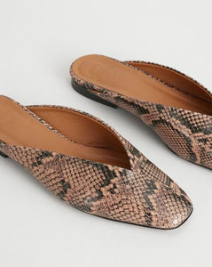 ARNESANO LOAFERS | BROWN PRINTED SNAKE | ATP ATELIER