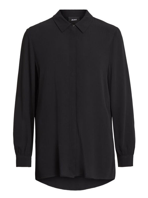 OBJBAY L/S SHIRT NOOS | BLACK | OBJECT