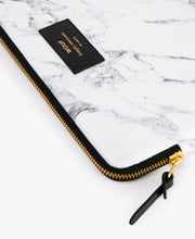 Load image into Gallery viewer, IPAD SLEEVE WHITE MARBLE | WOUF