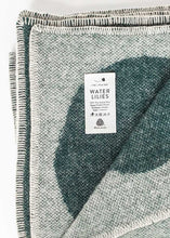 Load image into Gallery viewer, WATER LILIES WOOL BLANKET, GREEN
