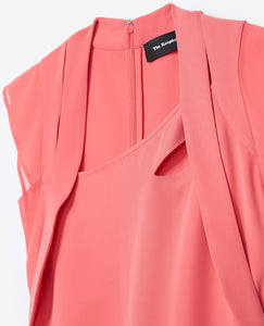 CREPE & CHIFFON DRESS PINK - THE KOOPLES