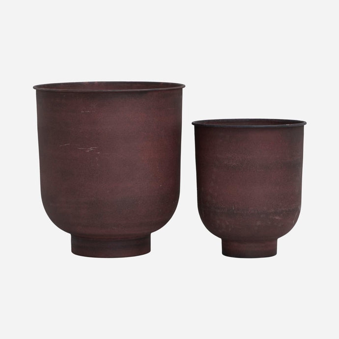 PLANTER VIG | BURNT HENNA | SET OF 2 | HOUSE DOCTOR