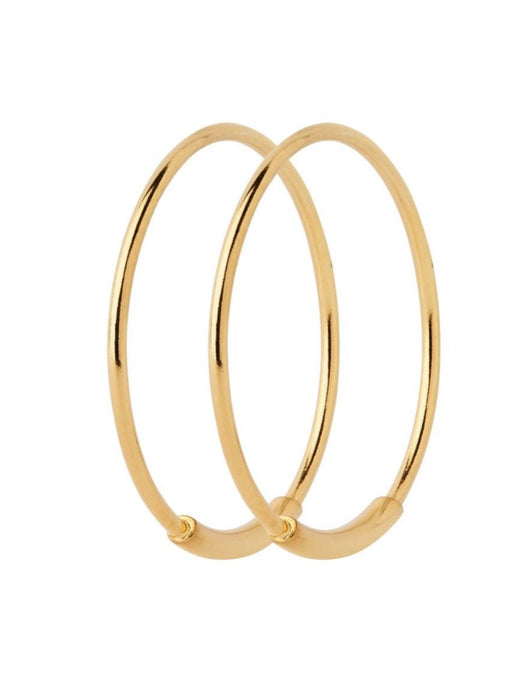 BASIC 19 HOOP EARRING | GOLD OR SILVER | MARIA BLACK