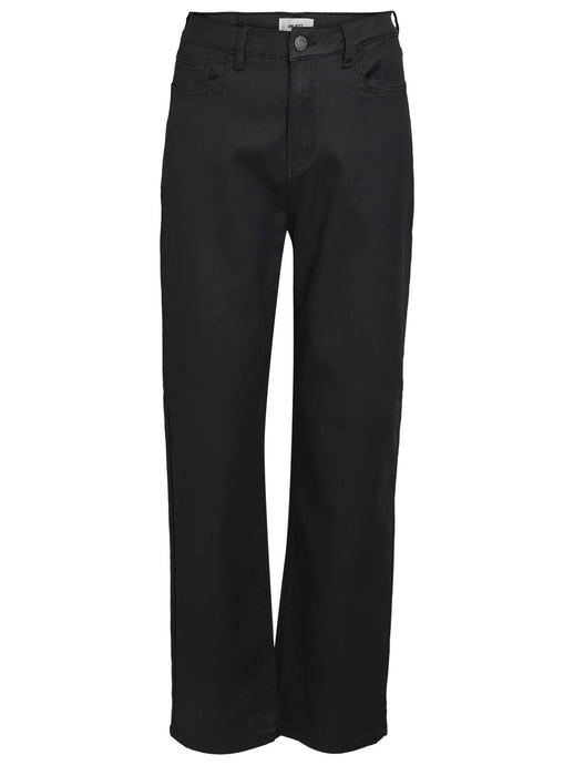 OBJMOJI BELLE COATED JEANS REP | BLACK | OBJECT