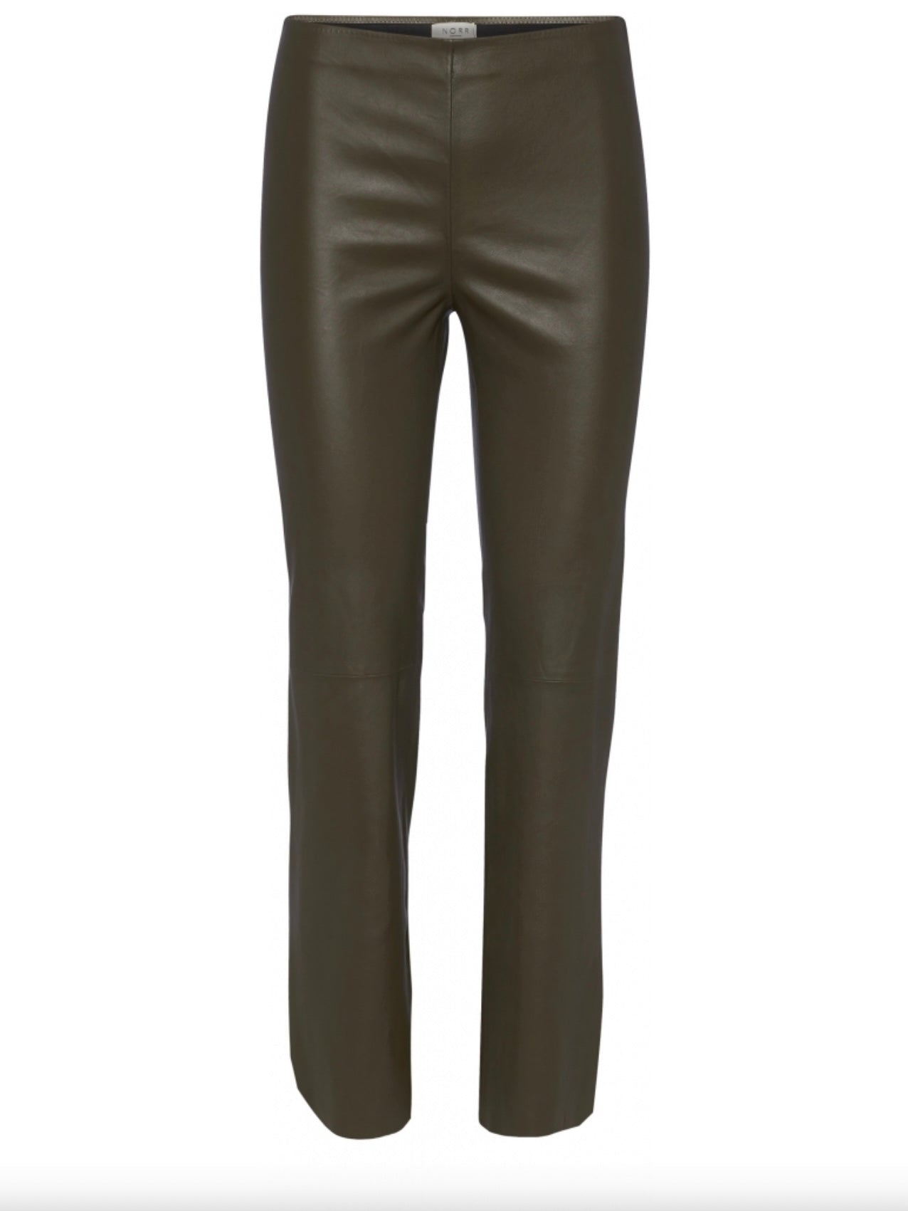 CELIA STRETCH LEATHER PANTS | ARMY | NORR