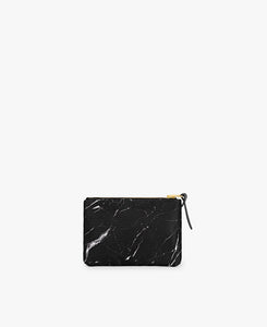 SMALL POUCH BLACK MARBLE | WOUF