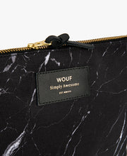 Load image into Gallery viewer, LARGE POUCH BLACK MARBLE  | WOUF