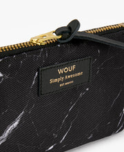 Load image into Gallery viewer, SMALL POUCH BLACK MARBLE | WOUF