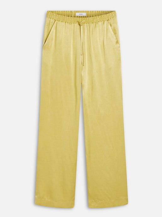 EVELYN VISCOSE SATIN PANTS | STRONG MUSTARD