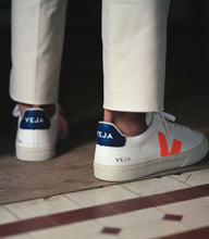 Load image into Gallery viewer, CAMPO LEATHER | WHITE ORANGE-FLUO COBALT | VEJA (MEN)