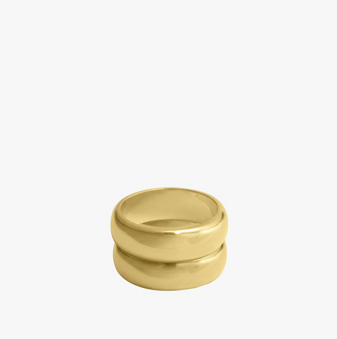 DOUBLE TROUBLE RING GOLD | WILDTHINGS