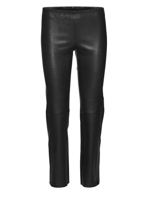 CELIA STRETCH LEATHER PANTS | BLACK | NORR