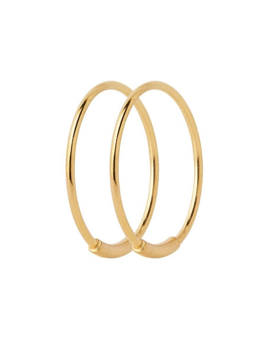 BASIC 16 HOOP EARRING | GOLD OR SILVER | MARIA BLACK