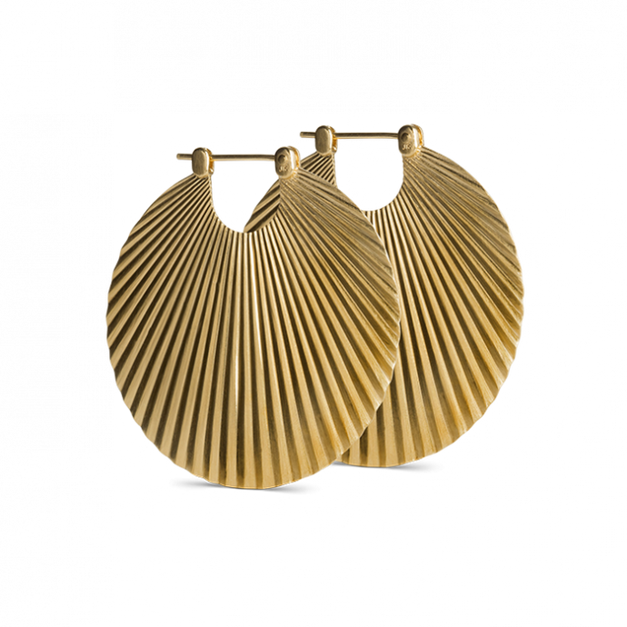 BIG SHELL EARRING | GOLD