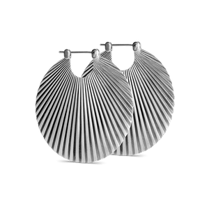 BIG SHELL EARRING | SILVER