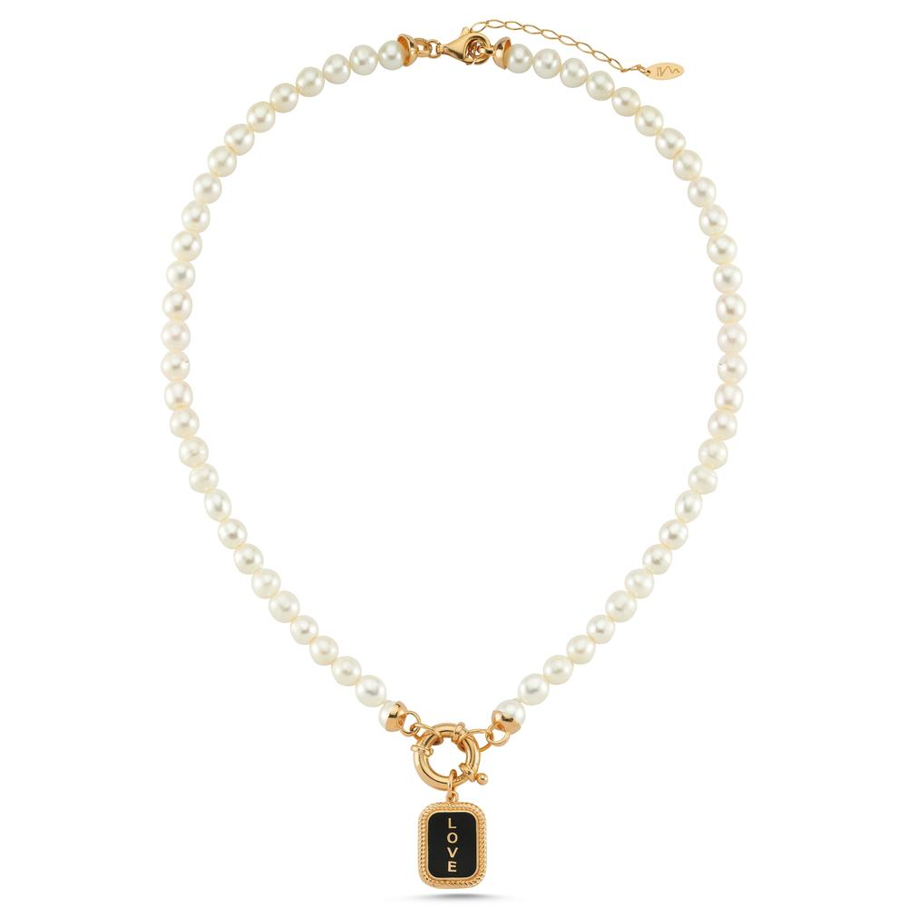 NECKLACE PEARL FREJA | GOLD | MAISON IREM