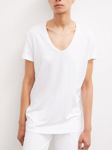 FEVIA TEE | PURE WHITE | BY  MALENE BIRGER