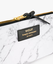 Load image into Gallery viewer, SMALL POUCH WHITE MARBLE | WOUF