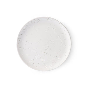 BOLD & CERAMICS : SPECKLED BREAKFAST PLATE | WHITE