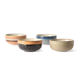 CERAMIC 70´S BOWLS MEDIUM SET OF 4 | HK LIVING