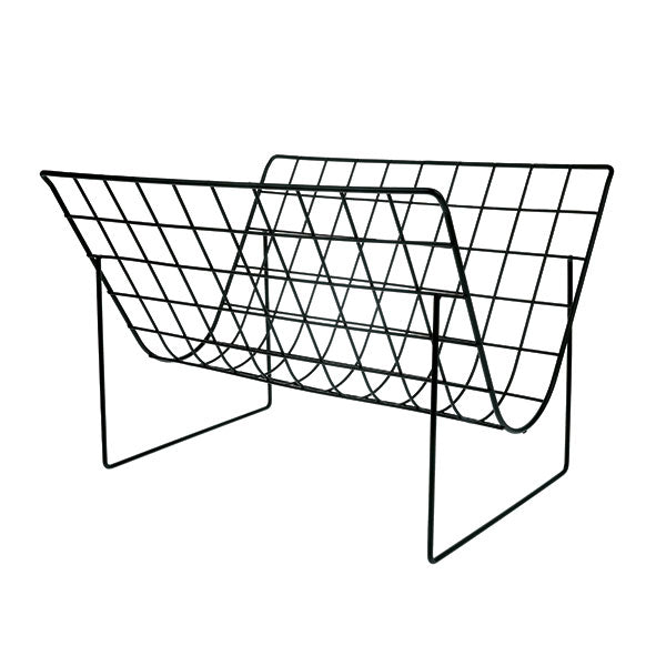 METAL WIRE MAGAZINE RACK | MATT BLACK