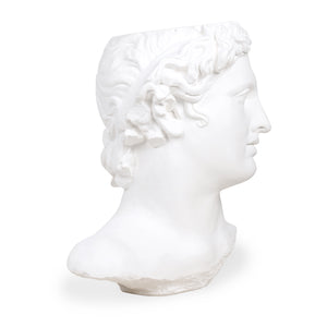 PLASTER STATUE APOLLO WHITE | HK LIVING