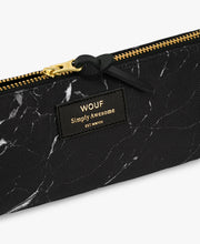Load image into Gallery viewer, PENCIL CASE BLACK MARBLE | WOUF