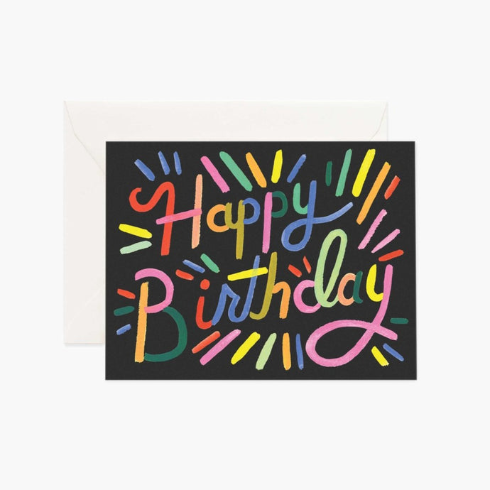 CARTE DOUBLE | FIREWORK BIRTHDAY | RIFLE & CO