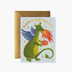 CARTE DOUBLE | DRAGON BIRTHDAY | RIFLE & CO