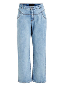 OBJMOJI CUTLINE JEANS OXI 107 LIGHT BLUE DENIM
