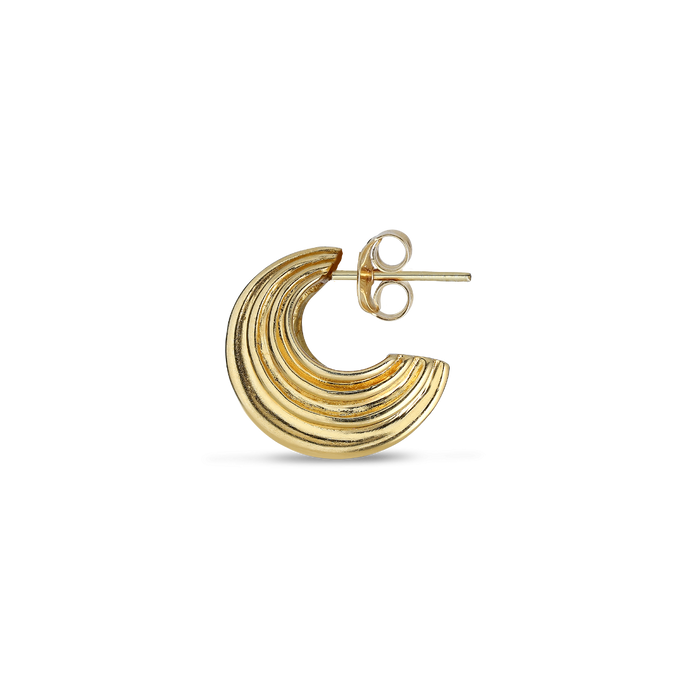 SMALL SCULPTURE EARRING | GOLD