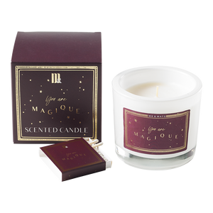 LUXURY SCENTED CANDLE | BURGUNDY STARS | ME & MATS