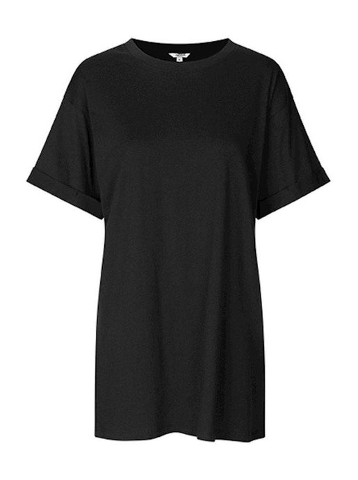 long cotton organic black t-shirt mbym