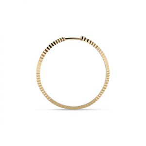 REFLECTION MIDI HOOP EARRING | GOLD
