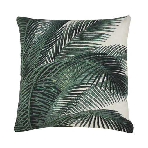 PRINTED CUSHION PALM LEAVES | 45X45 | HK LIVING