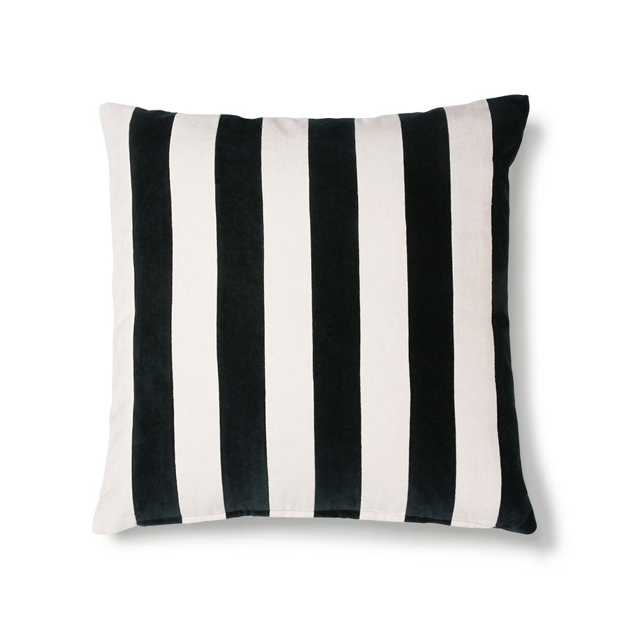 STRIPPED CUSHION VELVET | 50X50 | MULTI | HK LIVING