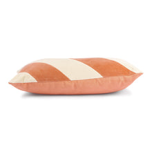 Load image into Gallery viewer, STRIPPED CUSHION VELVET PEACH/CREAM | 40X60 | HK LIVING
