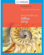 New Perspectives Microsoft Office 365 & Office 2019 Intermediate