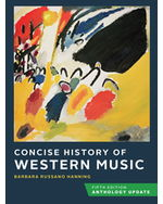 Concise History of Western Music, Anthology Update Paperback + Digital Product License Key Folder with Total Access Registration Card