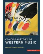 Concise History of Western Music Hardcover + Digital Product License Key Folder with Total Access Registration Card