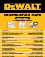 DEWALT®  Construction Math Quick Check: Extreme Duty Edition