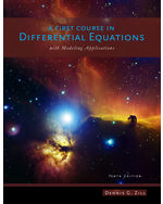 A First Course in Differential Equations with Modeling Applications