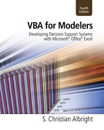 VBA for Modelers: Developing Decision Support Systems