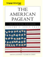 Cengage Advantage Books: The American Pageant, Volume 2: Since 1865