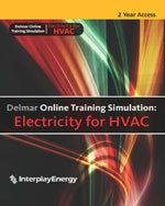 Delmar Online Training Simulation: Electricity for HVAC Printed Access Card, 2 year